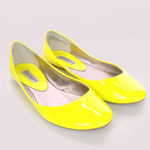 Steve Madden bright neon yellow flats 9